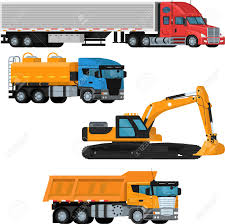 100 Construction Trucks Flat Vector Set On An Isolated Background Of Trucks And Construction