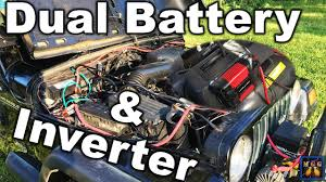 How To Wire A Dual Battery And Power Inverter Setup - YouTube Power Invters Dc To Ac Solar Panels Aims Xantrex Xpower 1000w Dual Gfci 2plug 12v Invter For Car Pure Sine Wave To 240v Convter 2018 Xuyuan 2000w 220v High Aims 12 Volt 5000 Watts Westrock Battery Ltd Shop At Lowescom Redarc 3000w Electronics Portable Your Or Truck Invters Bring Truckers The Comforts Of Home Engizer 120w Cup Walmart Canada