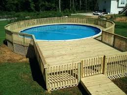 Deck Out Of Pallets Pool Wooden Wood Pallet Ideas