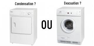 sèche linge à condensation ou à évacuation comment choisir en
