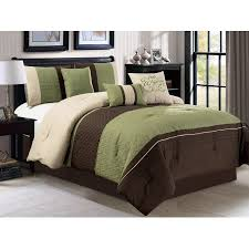 Bed Skirts Queen Walmart by 7 Pc Clamshell Trellis Scroll Embossed Pleated Striped Comforter
