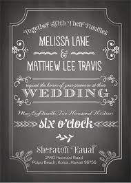 Make Your Wedding Invitation Look Stylish And Chic With This Chalkboard That Has Simple Designs In The Format Looks