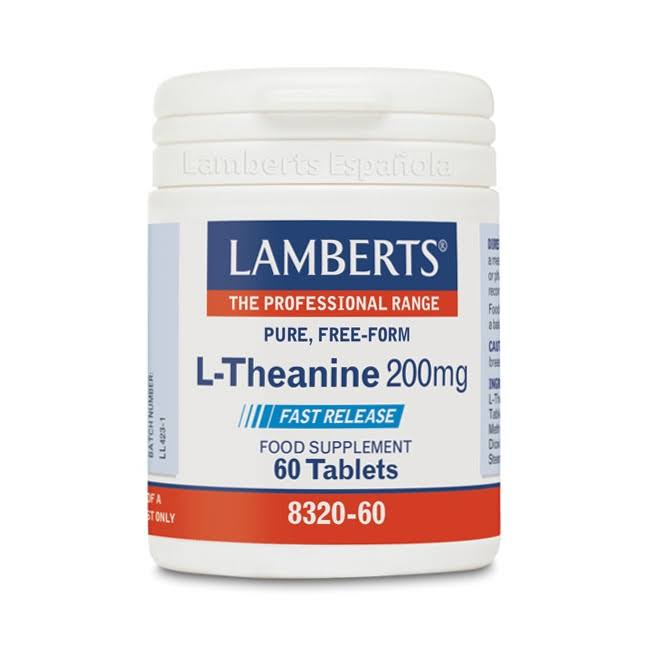 Lamberts L-Theanine 200mg Food Supplement - 60 Tablets