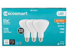 ecosmart 65w equivalent soft white br30 dimmable led lightbulb