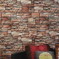 6141 3d faux ziegel stein tapete 0 53m 10m klassischen vinyltapeten für hausbar wohnzimmer dekoration