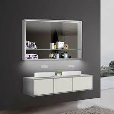 design badezimmer spiegel spiegelschränke spiegelregal led beleuchtung lkj120x75