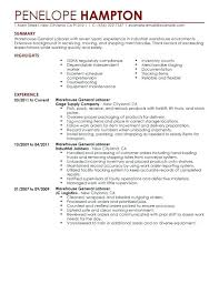 General Labor Resume Objective Generic Example Job
