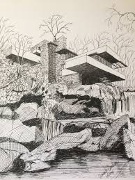 100 Frank Lloyd Wright Sketches For Sale Fallingwater Falling Water Frank Lloyd