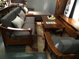 canape d angle bois canapé d angle fixé bois massif frêne d amérique style chinois