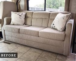 Rv Jackknife Sofa With Seat Belts by How We Built A Custom Rv Sofa Mountainmodernlife Com