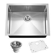 Karran Edge Undermount Sinks karran undermount stainless steel 24 in single basin kitchen sink