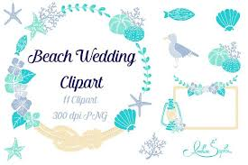 Beach Wedding Clipart Illustrations Creative Market