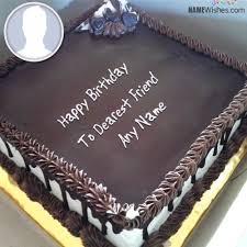 Square Chocolate Birthday Cake With Name 525