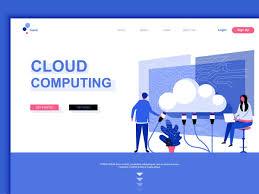 100 Flat Cloud Computing Landing Page Template Search By Muzli