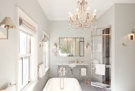 Chandelier Over Bathroom Sink by Chandelier Over Tub Traditional Bathroom Bhg