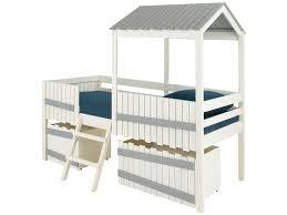 conforama chambre de bebe lit surélevé 90x190 cm amazone coloris blanc gris vente de lit