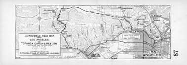 FileAutomobile Road Map From Los Angeles To Topanga Canon And Return 1915