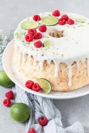 chiffon cake mit himbeeren limette luftig saftig
