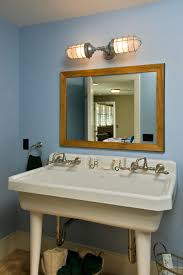 industrial vanity light bathroom rustic with double sink bathroom