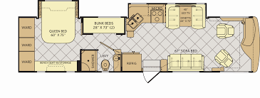 Class C Rv Floor Plans Elegant Fleetwood Excursion Lineup Expands Trader Insider