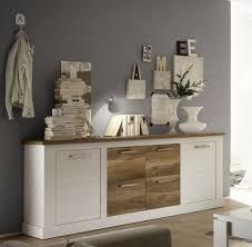 sideboard kommode pinie weiß nussbaum satin 210 cm wohnzimmer esszimmer möbel toronto