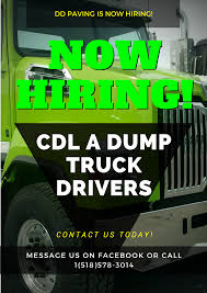 NOW HIRING! Hiring CDL A Dump Truck Drivers To Start Immediately ...