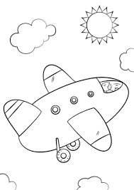 Click To See Printable Version Of Cartoon Airplane Coloring Page