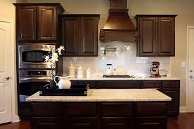Kitchens With Dark Cabinets And Light Countertops by Kitchen Captivating Kitchen Backsplash For Dark Cabinets