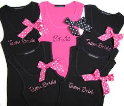 bride and team bride tank tops with polka dot ribbons 24 95