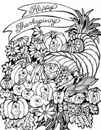 Coloring Adult Thanksgiving Harvest Cornucopia