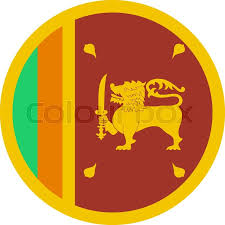 Stock Vector Of The Flag Sri Lanka In Flat Circular Style