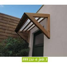 auvent de porte brico depot auvent de porte 3d marquise bois et polycarbonate cour et