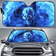 100 Sun Shades For Trucks Blue Skull Auto Shade VonSkull