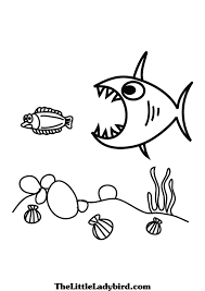Big Fish Small Coloring Page