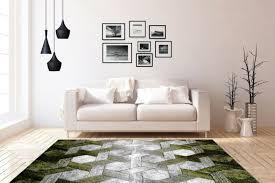 3d teppich modern design teppiche wohnzimmer grün grau