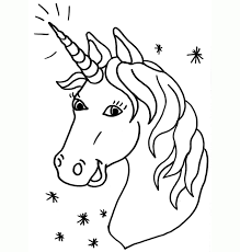 Unicorn Emoji Coloring Pages For Girls Face