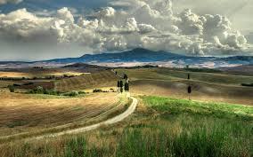 Tuscany Sky Clouds Italy Landscape HD Wallpaper Desktop Background