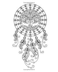 Amazon Dream Catcher Coloring Book An Adult Of 40 Beautiful