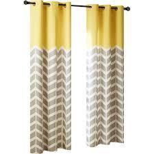 Bed Bath And Beyond Semi Sheer Curtains by Intelligent Design Alex Chevron Room Darkening Grommet Curtain