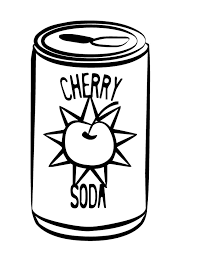 Printable Cherry Soda coloring page from FreshColoring