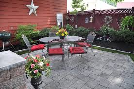 Menards Patio Paver Patterns by Captivating Concrete Patio Or Paver Patio With Small Pebble Stone