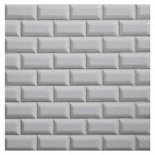 ceramic tile dimensional mosaic ceramics beveled mini brick 1