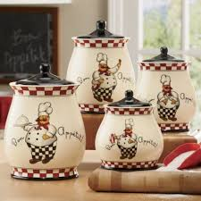 Bon Appetit Chef Canister Set From Through The Country Door Find This Pin And More On Decorating Kitchen