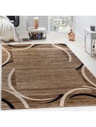 paco home wohnzimmer teppich bordüre kurzflor meliert modern hochwertig schwarz braun klingel