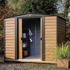 6x5 Shed Double Door by 8x6 Woodvale Apex Metal Shed Departments Diy At B U0026q