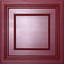 ceilume madison merlot 2 ft x 2 ft lay in coffered ceiling panel
