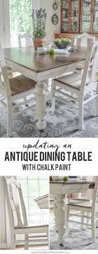 Antique Dining Table Updated With Chalk Paint | Anderson + Grant How To Transform A Vintage Ding Table With Paint Bluesky Pating My Antique Six Edwardian French Painted Chairs 364060 19th Century Country Set Of 6 Balloon Back Good 1940s Faux Bamboo Eight 1920s Pair Regency 2 Side White Chippy Chair Early 20th Louis Xvi Chairsset 8 Abc Carpet Home Style Fniture And European Buy Cheap Punched Wood Handpainted