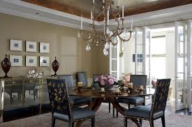 Baroque Mirrored Sideboard In Dining Room Traditional With Gold Ceiling Next To Furniture Alongside Mirror