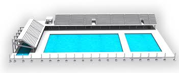 OLYMPIC STANDARD SWIMMING STADIUM INDORE MP Built Up Area 1000 M2 Use Stadium Height 3 Floors Bleachers Stage Of Work Column Layout In
