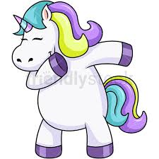 Chubby Unicorn Dabbing PNG